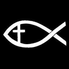 New Custom Screen Printed T-shirt Jesus Fish Cross Religious Sma