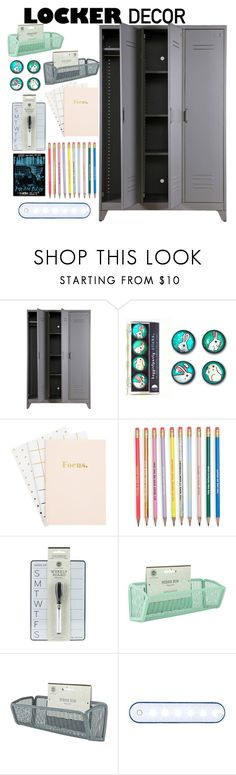 """Locker Decor- Contest"" by madicharles ❤ liked on Polyvore featuring interior, interiors, interior design, home, home decor, interior decorating, BackToSchool and mylocker"