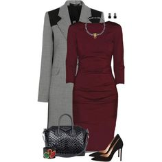 A fashion look from November 2014 featuring Nicole Miller dresses, Roland Mouret coats and Gianvito Rossi pumps. Browse and shop related looks.