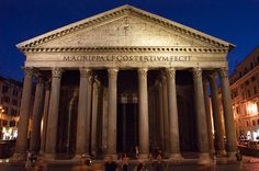 Pantheon - the Most Exquisite Ancient Piece in Rome, Italy Pantheon Roma, Historical Architecture, Roman Architecture, Ancient Architecture, Amazing Architecture, Travel Memories, Rome Italy, Study Abroad, Italy Travel