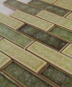 Glass tile for a backsplash