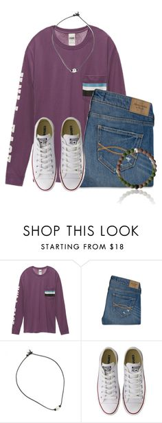 """""""Holding my """" by flroasburn ❤ liked on Polyvore featuring Victoria's Secret, Abercrombie & Fitch and Converse"""