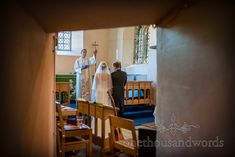 Bride and groom are blessed by vicar at Christian church wedding ceremony in Dorset. Photo by one thousand words wedding photography Church Wedding Ceremony, Christian Church, Groom, Blessed, Wedding Photography, Bride, Wedding Bride, Bridal, Church Weddings