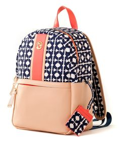 Another great find on #zulily! Navy & Peach Hilton Head Academy Backpack by Spartina 449 #zulilyfinds