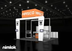 Nimlok has 40 years of experience designing trade show booths that bring clear ROI. For Hasco, we built a 20x20' exhibit to meet their needs.