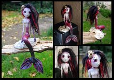 ASRA the siren of the Blood Sea. Art doll. by Lauramei.deviantart.com on @DeviantArt
