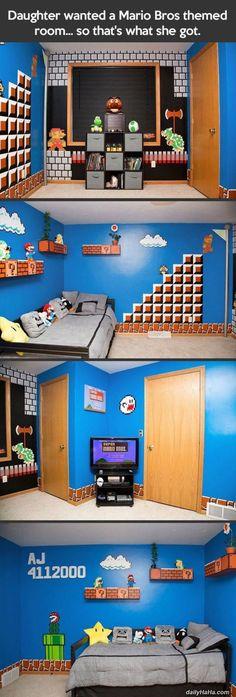 Mario Themed Room