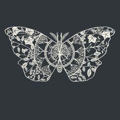 Polyphemus Moth PaperCut Art Print 12 x 12 by TheThinks on Etsy, $30.00