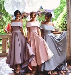 Off Shoulder Simple Bridesmaid Dress,New Arrival Custom bridesmaid dress, Wedding Party Dresses,Long Bridal Gowns, BD14356