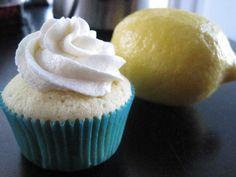Filled Lemon Cupcakes with Blueberry Pie Filling w/ Lemon Zest Buttercream