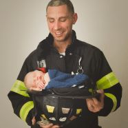 His daddy is a true hero. FDNY baby. FIrefighter baby