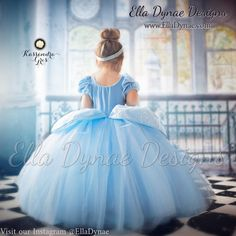 Cinderella Costume Classic Princess Gown Tutu Dress by EllaDynae