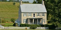 """Dubbed """"Hardscrabble,"""" this stone home serves up a rich dose of American history: According to the listing, it was formerly owned by a Revolutionary War officer and used by Civil War generals. The 55 acres don't hurt, either.  Asking Price: $1,100,000 Listed By: Jack Rose, Funkhouser Real Estate Group, (540) 434-2400 For more information, visit CIRCA Old Houses.   - CountryLiving.com"""