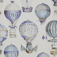 L'Envol Wallpaper. Imagine this on a nursery wall! *swoon*