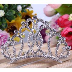 Corona Tiara Diadema Peine Nupcial Novia Boda Princesa Diamante de Imitación #02 es.tmart.com #corona #tiara #diadema #crown #novia #nupcial #wedding #boda #fiesta #evento #queen #princesa #princess #reina #moda #belleza #beauty #plata #birthdayparty #makeupparty #party #regalo #gift #girl #wishlist #navidad #christmas #tmart #Tmart #joyas #joyeria #jewellery #pulsera #anillo #pendiente #collar #silver #oro #lujo #accesorios #bridal #headband #plata #comb #peine #haircomb #hair #pinza #pin