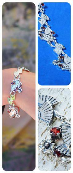 Bracelet | 925 Sterling Silver & Natural Garnet Gemstone