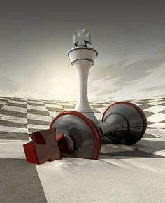 Battle Digital Art - Desert Chess Defeat by Allan Swart King Chess Piece, Chess Pieces, Chess Piece Tattoo, Chess Online, Chess Quotes, King Pic, Kings Game, Surrealism Painting, Beautiful Fantasy Art
