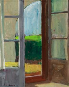 Paul Wonner (1920-2008) Studio Door, 1964 Oil on board