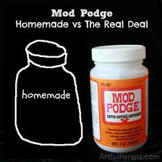 Homemade Mod Podge vs The Real Deal