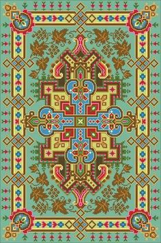 Items similar to Antique Rug Center Motif Grapes Leaves Corners Tapestry Beaded Tapestry Adaptation circa 1880 Large Counted Cross Stitch Pattern PDF on Etsy Embroidery Sampler, Cross Stitch Embroidery, Embroidery Patterns, Cross Stitch Patterns, African Crafts, Mini Cross Stitch, Crochet Borders, Background Patterns, Cross Stitching