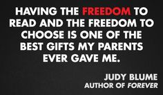 Judy Blume, author of FOREVER #bannedbooksweek  Then again, who doesn´t love Judy Blume?