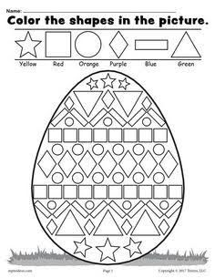Easter Math Worksheets Kindergarten Easter Coloring Pages for Grade Easter Worksheets Nd Easter Worksheets, Shapes Worksheets, Printable Worksheets, Number Worksheets, Free Printable, Easter Coloring Pages Printable, Coloring Worksheets, Printable Numbers, School Worksheets