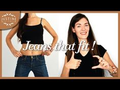 How to find the perfect jeans for your body type | Justine Leconte - YouTube