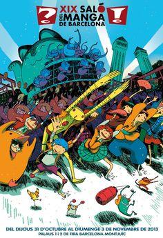 XX Barcelona Manga Convention by Ken Niimura, via Behance