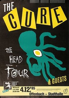1985 The Cure Concert Poster (Germany) The Cure Concert, Rock Concert, Illustration Photo, Illustrations, Tour Posters, Band Posters, Music Posters, Norman Rockwell, Rock Roll