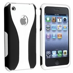 White/Black Cup Shape 3-Piece Clip-on Hard Cover Case for iPhone® 3 G 3GS 3th USA
