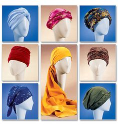 Hats and Turbans Pattern McCalls 4116 UNCUT Cancer Chemo Hat Wrapped Headwraps Headcovering Snood Babooshka Kerchief Womens Sewing Patterns Hat Patterns To Sew, Mccalls Sewing Patterns, Fleece Patterns, Turbans, Headscarves, Girls Fleece, Sew Ins, Kerchief, Head Wraps