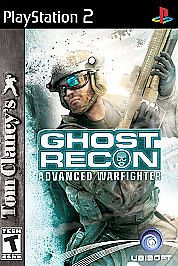 Tom Clancy's Ghost Recon Advanced Warfighter Playstation 2 PS2 Game Complete