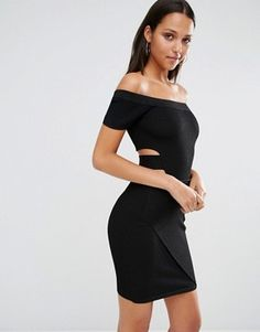 River Island Knitted Bardot Dress