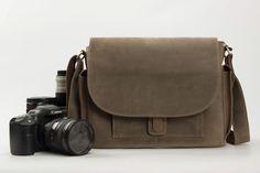 Genuine Leather DSLR Camera Bag Messenger Bag Crossbody Bag SLR Camera Bag JW826