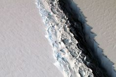 The breakup of the massive Larsen C Ice Shelf in Antarctica is getting closer and will eventually produce an iceberg the size of Delaware prowling the Southern Ocean, according to new NASA data. On Friday, NASA released an astonishing new image taken by researchers flying above the ice shelf on Nov.