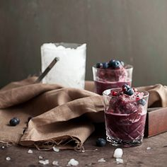 Pomegranate, Blueberry Matcha Green Tea Slushy #HealthyAperture