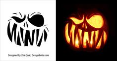 Image result for scary pumpkin templates