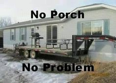 Redneck porch... I am laughing too hard at this. I actually know people that would so do this!!!! Hahahaha