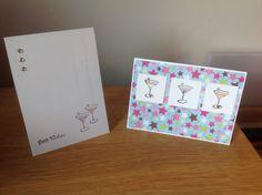 Simple Birthday cards, martini glass, cocktail