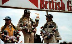 Clay Regazzoni celebrating the WILLIAMS  team's 1st win in the FW07 at the 1979 British GP, Silverstone... It was also the Last F1 win for Clay