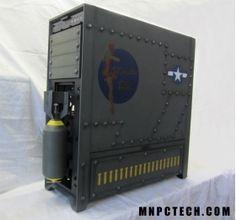 "Corsair 900D ""WWII Bomber"" Full Tower Case Mod from MnPcTech"