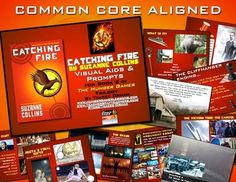 Catching Fire Common Core Presentation & Activities - stunning visual aids and writing prompts to engage your students!