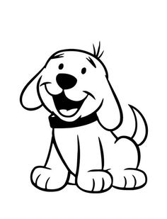 happy puppy laughing coloring page