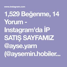 """1,529 Beğenme, 14 Yorum - Instagram'da İP SATIŞ SAYFAMIZ @ayse.yarn (@aysemin.hobileri): """"Tüm örenlere kolay gelsin 😊😊😊 Model👉 👉 @sea_knitting #ayseyarn #ayseminhobileri #trapillo…"""""""