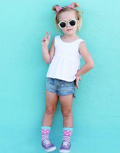 Buy Jefferies Socks Girls Dots & Stripes Crew Socks 6 Pair Pack and many other girls socks. Socks for everyone, we are your one stop sock shop. Striped Tights, Patterned Socks, Polka Dot Socks, Polka Dots, Boys Socks, Trendy Girl, Wide Stripes, Colorful Socks, Ribbed Top
