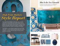 Trend: Blue is the New Emerald Brickhouse Point Market Bocanegra do Lobo Coastal Bedding, Coastal Decor, Color Trends, Design Trends, Hamptons Decor, R Colors, Interior Design Themes, Beach Themes, Colorful Decor