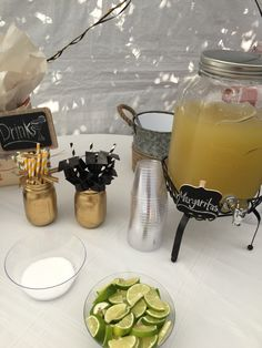 Margarita Bar for Black and Gold Graduation Party