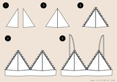Triangle lace bras - Triangle lace bras Best Picture For diy face mask sewing pattern For Your Taste You are looking f - Fashion Sewing, Diy Fashion, Diy Kleidung Upcycling, Tops Diy, Diy Bralette, Costura Fashion, Diy Mode, How To Make Clothes, Remake Clothes
