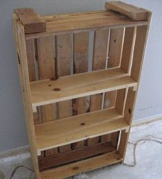 Pallet furniture shelves pallet shelf for sale pallet wall shelves Pallet Furniture Shelves, Pallet Furniture Plans, Pallet Wall Shelves, Furniture Ideas, Furniture Storage, Wood Furniture, Bookcase Plans, Wood Bookshelves, Bookshelf Diy