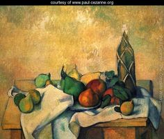 Still life, bottle of rum - Paul Cezanne